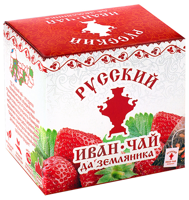 Чай в пирамидках Русский Иван-чай да земляника, 20 гр
