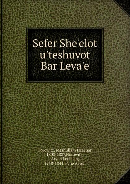 Meshullam Issachar Horowitz Sefer She.elot u.teshuvot Bar Leva.e свитшот print bar fck u dust