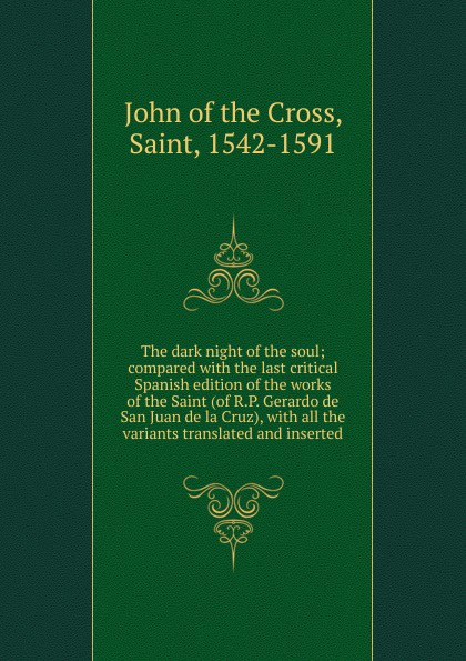 John of the Cross The dark night of the soul недорого