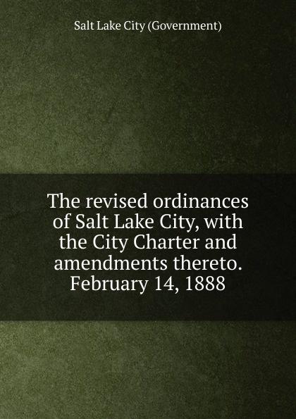 Salt Lake City Government The revised ordinances of Salt Lake City michael ruse charles darwin