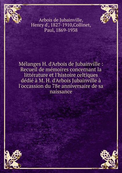 Henry d'Arbois de Jubainville Melanges H. d.Arbois de Jubainville виниловый проигрыватель audio technica at lp60bt wh
