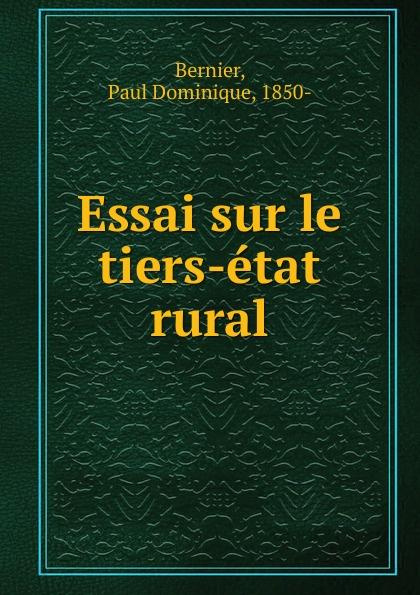 Фото - Paul Dominique Bernier Essai sur le tiers-etat rural jean paul gaultier le male