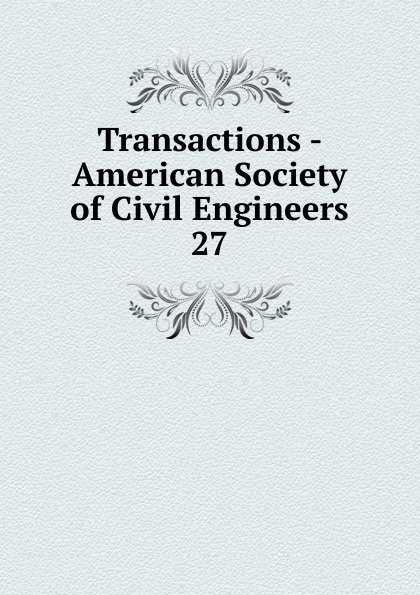 Transactions - American Society of Civil Engineers