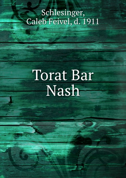Caleb Feivel Schlesinger Torat Bar Nash the mystery sonatas