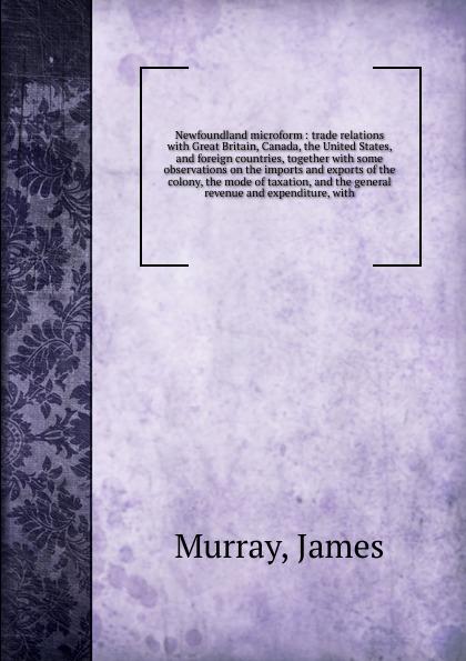James Murray Newfoundland microform спортивная футболка foreign trade and exports ni ke