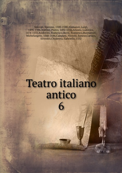 Sperone Speroni Teatro italiano antico