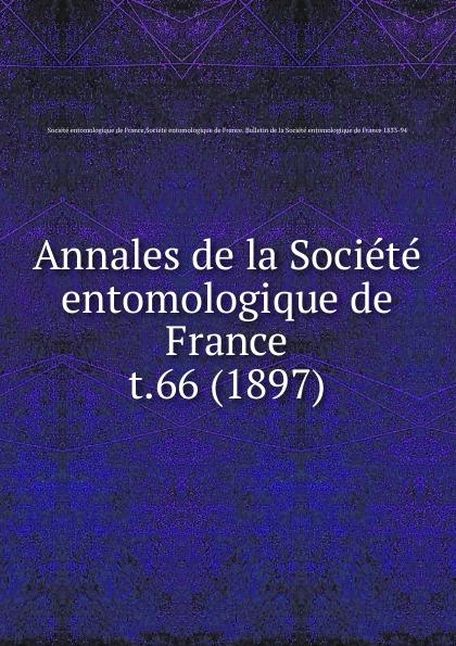 Annales de la Societe entomologique de France