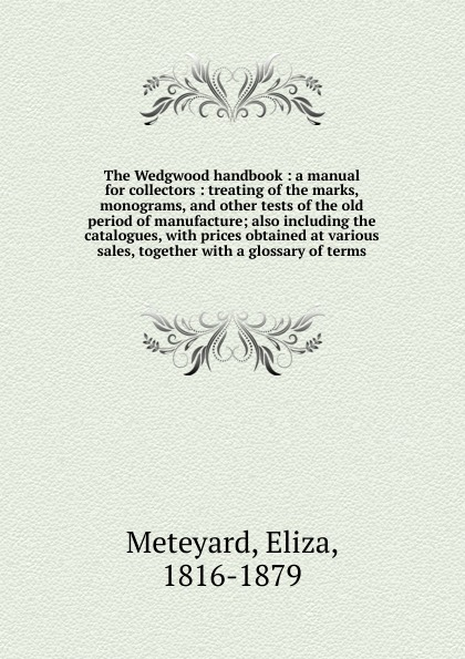 Meteyard Eliza The Wedgwood handbook hubert razik handbook of asynchronous machines with variable speed isbn 9781118600863