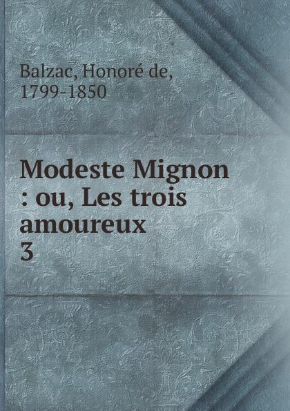 Honoré de Balzac Modeste Mignon