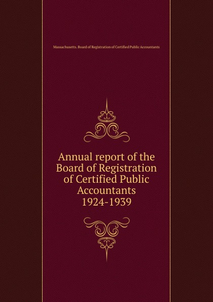Annual report of the Board of Registration of Certified Public Accountants