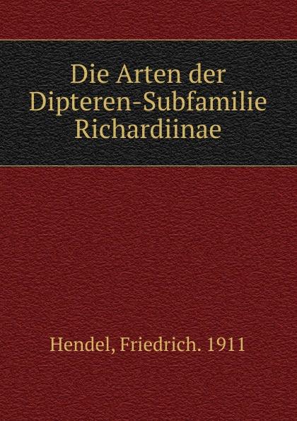 Die Arten der Dipteren-Subfamilie Richardiinae