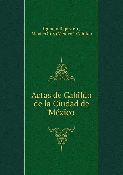 Ignacio Bejarano Actas de Cabildo de la Ciudad de Mexico ignacio bejarano cabildo libro veintidos de actas de cabildo que comienza en primero de enero de 1618 y termina en 29 de abril de 1619 classic reprint