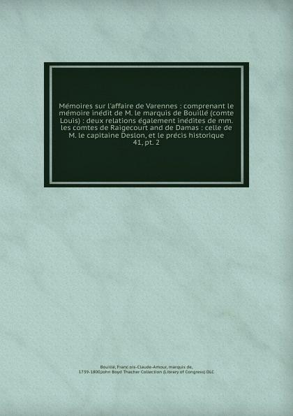Memoires sur l.affaire de Varennes