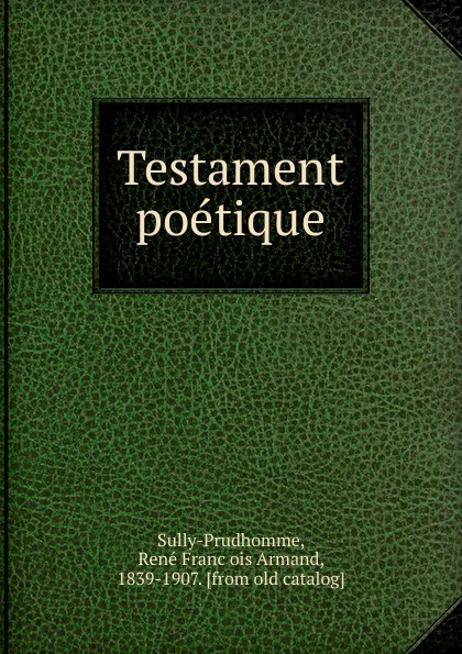 Testament poetique