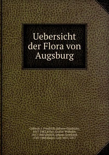Johann Friedrich Caflisch Uebersicht der Flora von Augsburg