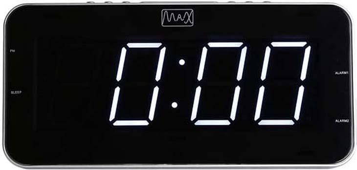 Радио-будильник MAX CR-2904W, Silver White ноутбук в режиме будильника