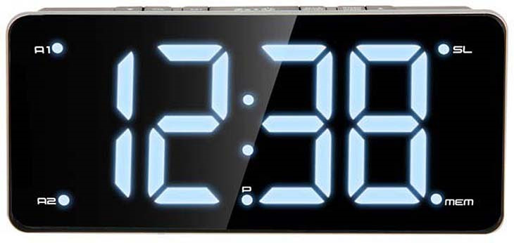 MAX CR-2911, Black White радиобудильник