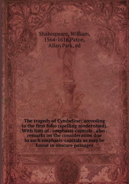 лучшая цена William Shakespeare The tragedy of Cymbeline