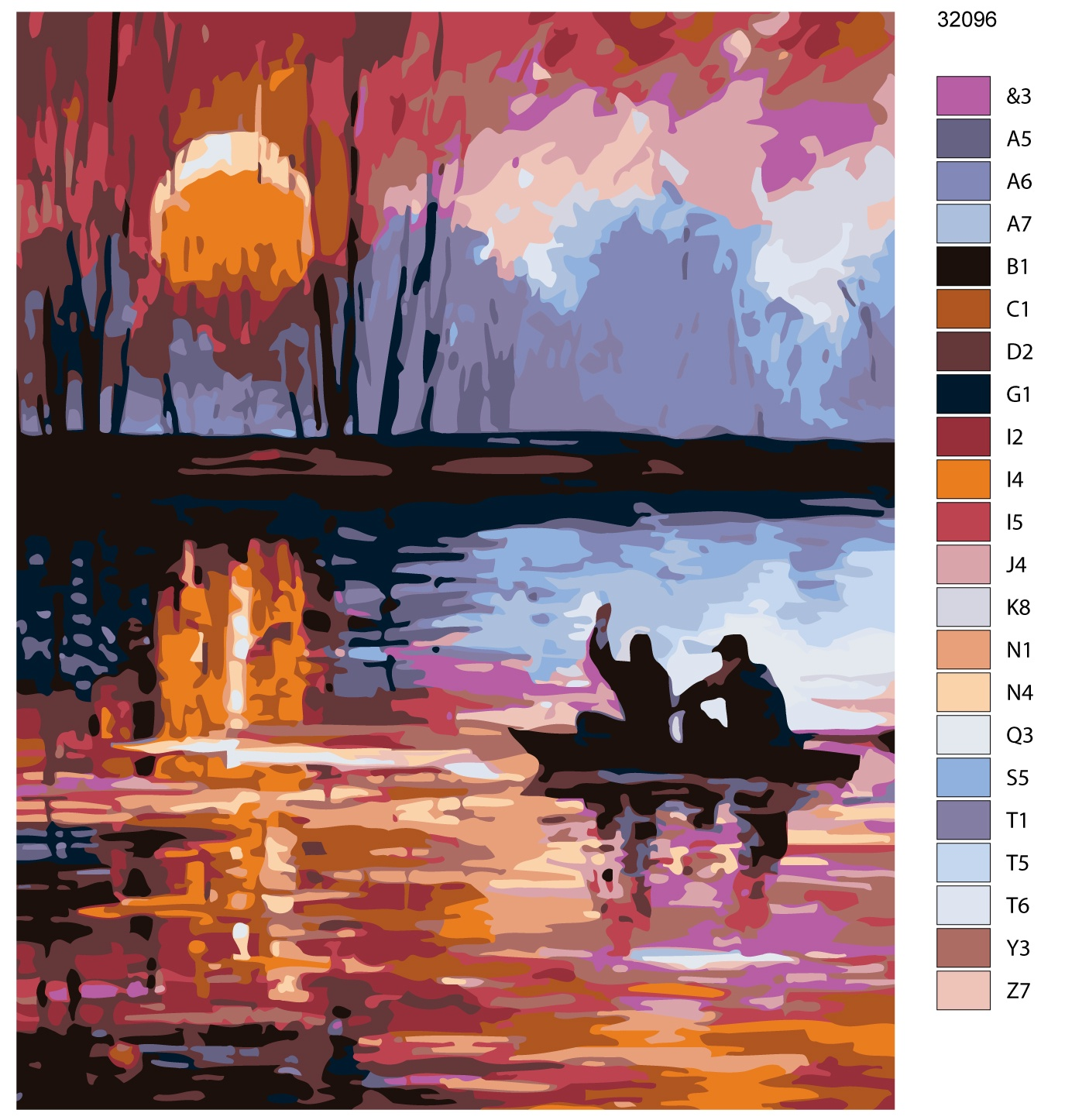 Набор для создания картины Живопись по номерам KTMK-32096KTMK-32096Количество красок от 18 до 24. Картина раскрашивается без смешивания красок. Высококачественные акриловые краски собственного производства сделают вашу картину яркой и уникальной. Все необходимые материалы есть в комплекте: натуральный хлопковый холст, натянутый на деревянный подрамник, баночки с акриловыми красками на водной основе, 3 кисти из качественного нейлона, схема раскрашивания, инструкция. Просто закрашивайте участки красками с соответствующим номером.