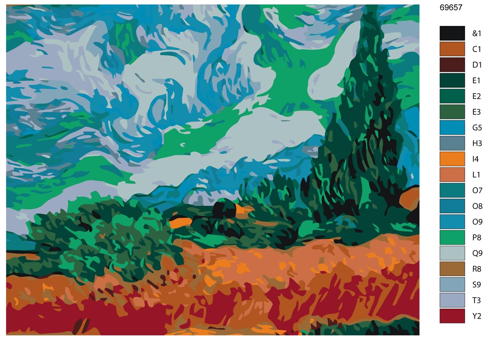 Набор для создания картины Живопись по номерам KTMK-69657KTMK-69657Количество красок от 18 до 24. Картина раскрашивается без смешивания красок. Высококачественные акриловые краски собственного производства сделают вашу картину яркой и уникальной. Все необходимые материалы есть в комплекте: натуральный хлопковый холст, натянутый на деревянный подрамник, баночки с акриловыми красками на водной основе, 3 кисти из качественного нейлона, схема раскрашивания, инструкция. Просто закрашивайте участки красками с соответствующим номером.