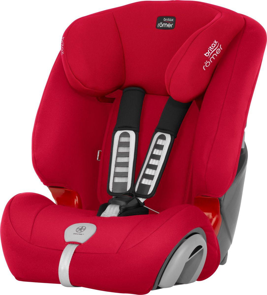 Автокресло детское Britax Roemer Evolva 1-2-3 plus, 2000030821, красный, 9-36 кг britax evolva 1 2 3 plus