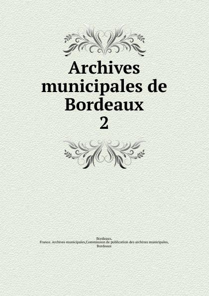 Archives municipales de Bordeaux