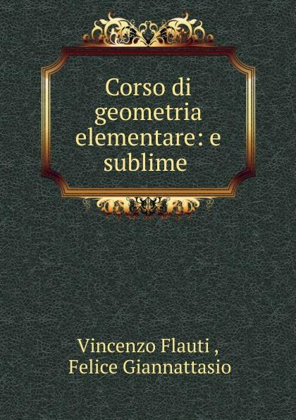 Vincenzo Flauti Corso di geometria elementare vincenzo brunacci corso di matematica sublime volume 1 italian edition