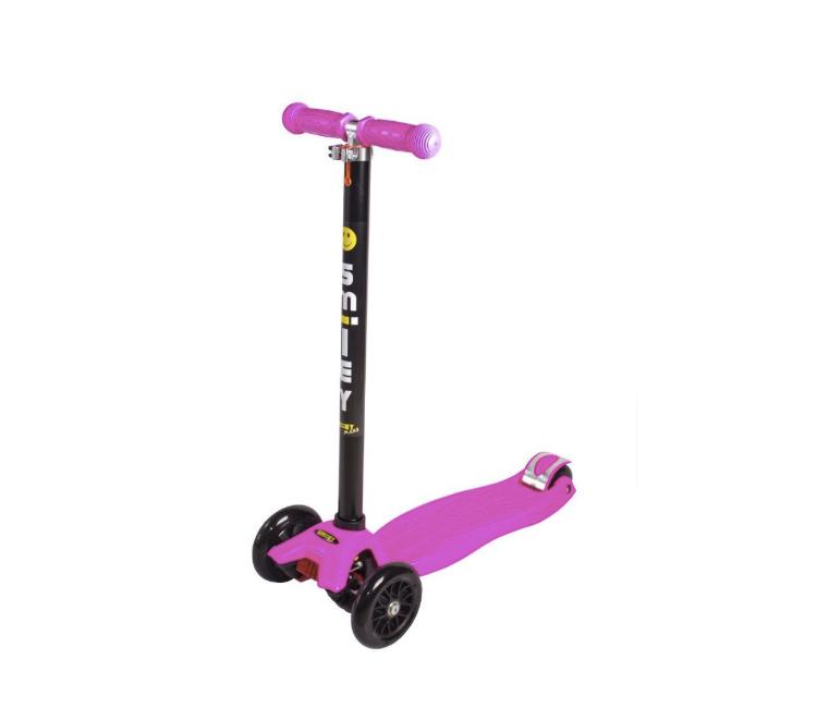 Самокат Smiley Maxi, розовый руль сиденье fun4u smiley kiddyscoo