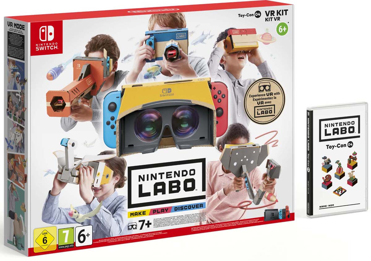 лучшая цена Комплект игровых аксессуаров Nintendo Labo VR, 41833