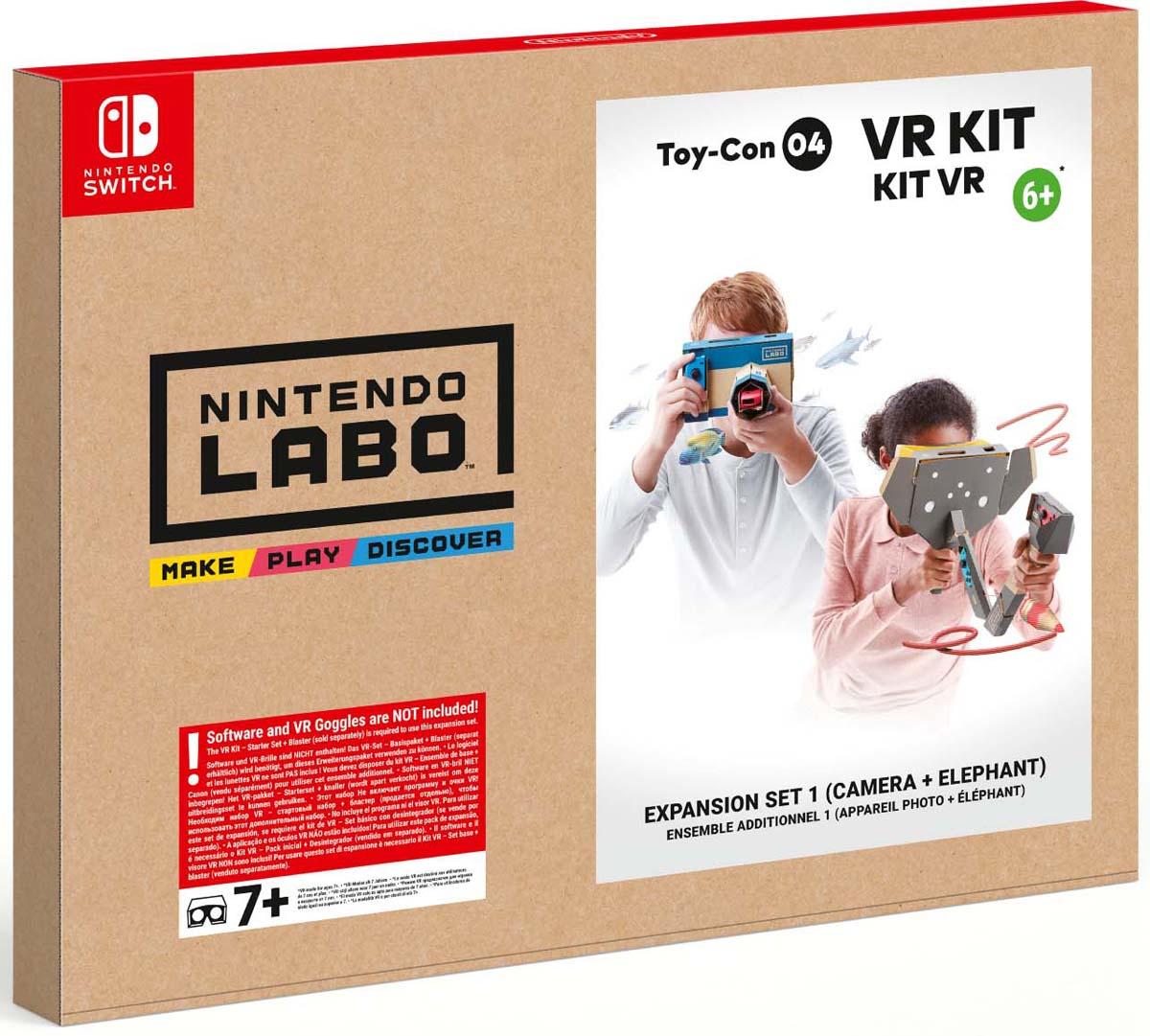 лучшая цена Комплект игровых аксессуаров Nintendo Labo VR Дополнительный набор 2, 41836