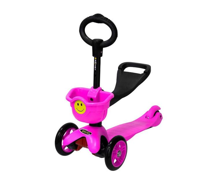 Самокат Smiley Mini, розовый руль сиденье fun4u smiley kiddyscoo