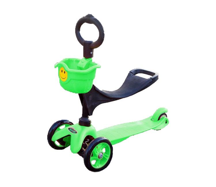 Самокат Smiley Mini, зеленый руль сиденье fun4u smiley kiddyscoo