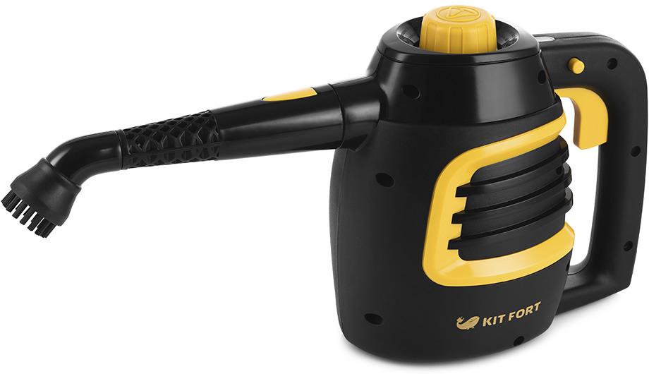 Пароочиститель Kitfort КТ-930, черный, желтый пароочиститель ручной гейзер
