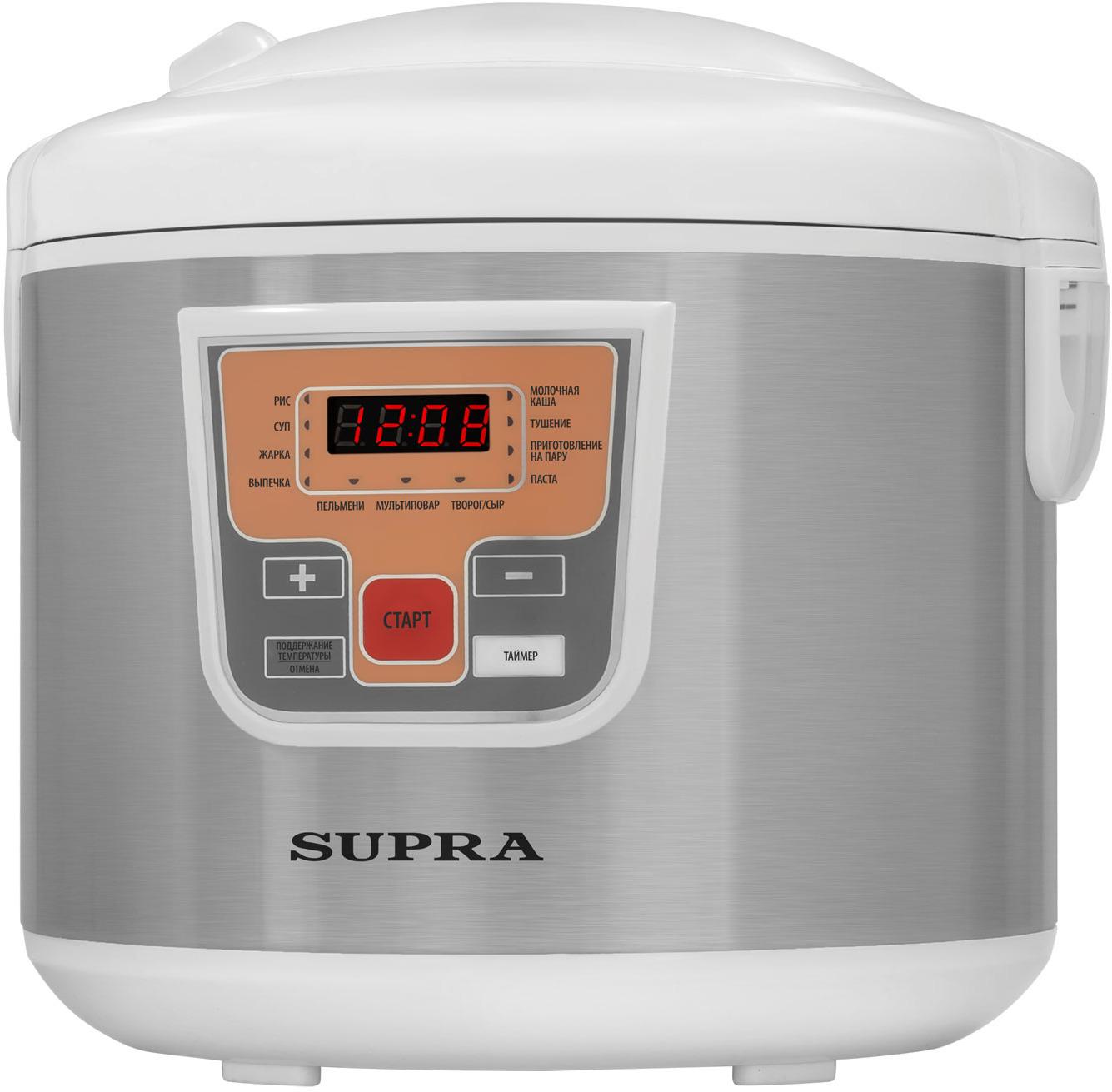 Мультиварка Supra MCS-5110, белый, серебристый мультиварка supra mcs 4704 800вт белый