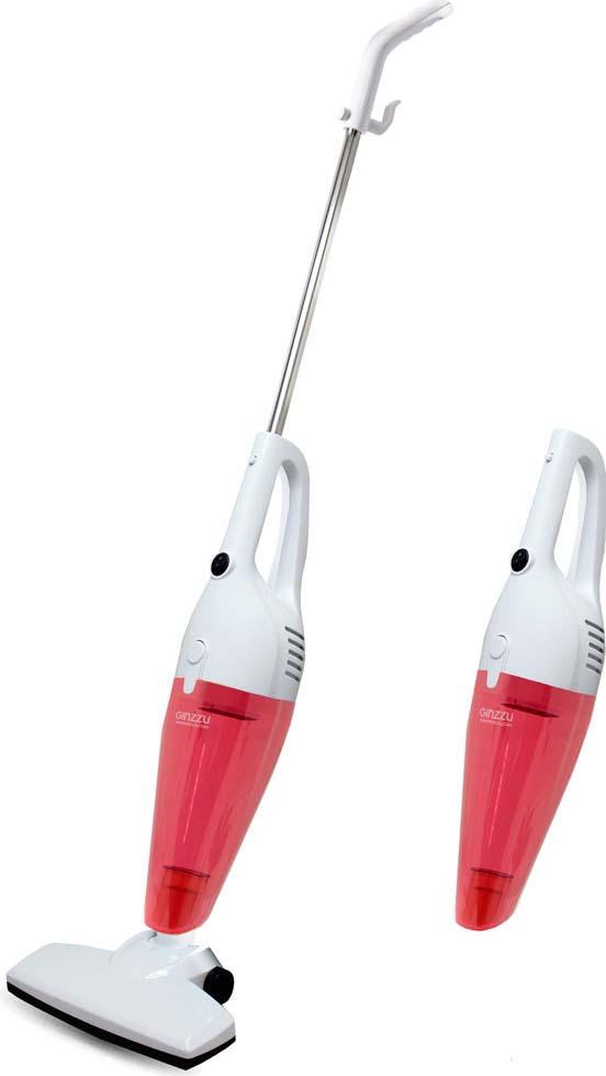 Вертикальный пылесос Ginzzu VS101, красный