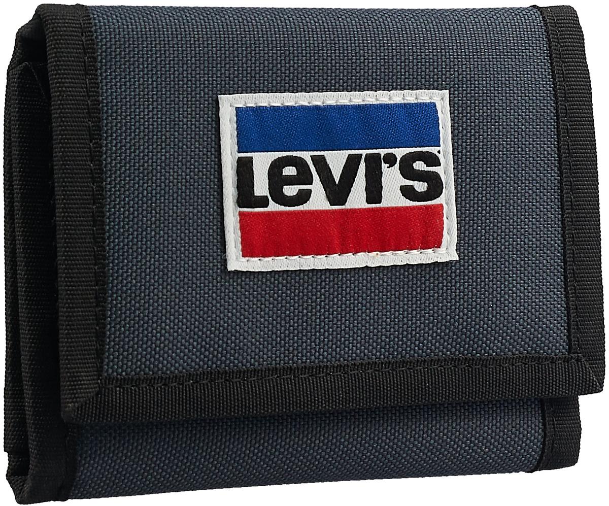 Кошелек мужской Levi's® , 3754101750, темно-синий лонгслив мужской oodji lab цвет темно синий 5l512010m 47637n 7910p размер xl 56