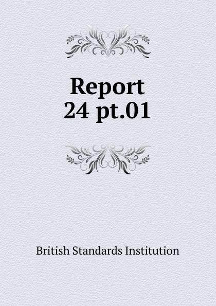 British Standards Institution Report. 24 pt.01