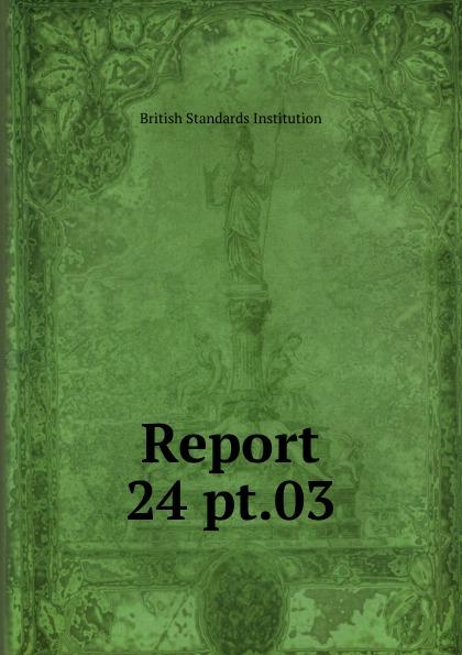 British Standards Institution Report. 24 pt.03