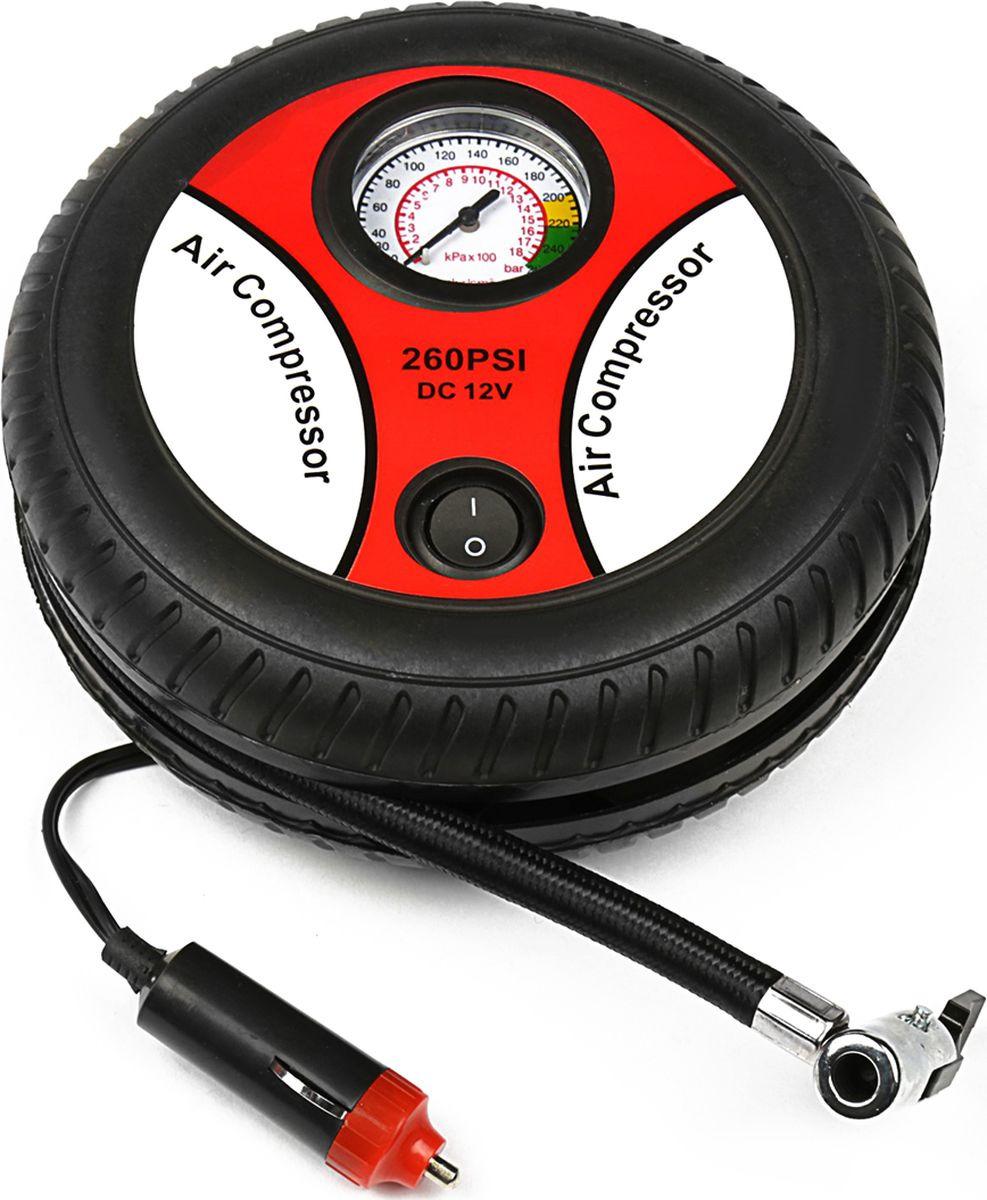 Автомобильный компрессор, 1065267, 18 л/мин, шланг 50 см автомобильный компрессор с пылесосом zipower pm 6510 15л мин