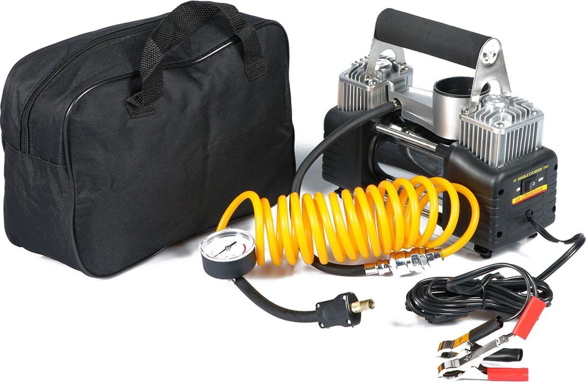 Автомобильный компрессор, двухпоршневой, 3737482, 70 л/мин автомобильный компрессор с пылесосом zipower pm 6510 15л мин