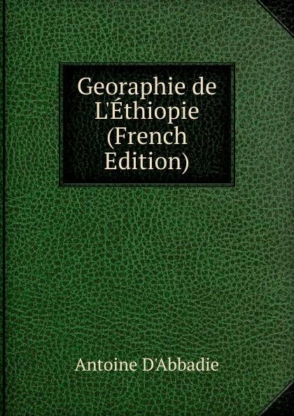 Georaphie de L.Ethiopie (French Edition)