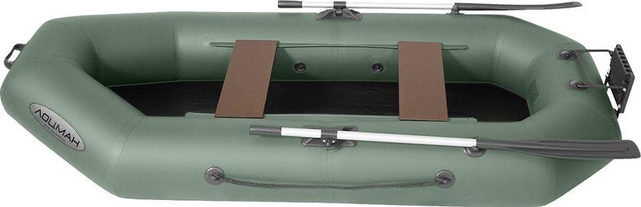 Лодка гребная Лоцман, С-260 П, надувная, зеленый