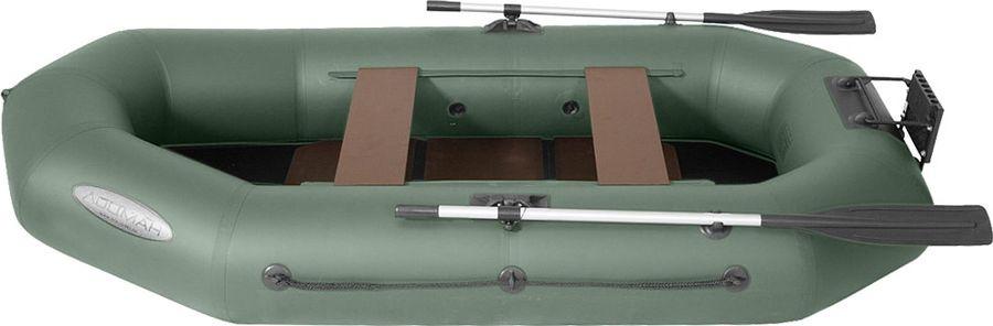 Лодка гребная Лоцман Профи, С 280 М П РС, надувная, зеленый