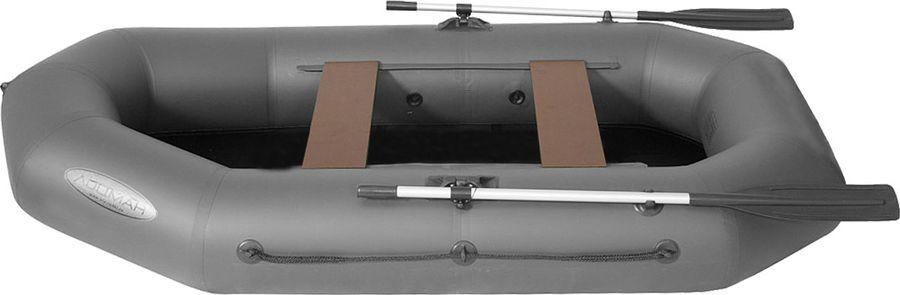 Лодка гребная Лоцман Профи, С 280 М, надувная, серый