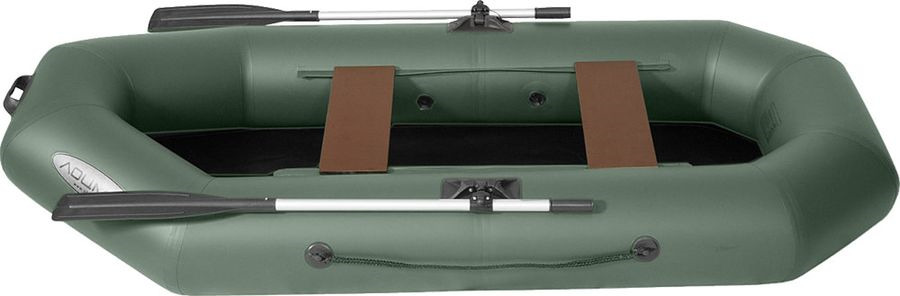 Лодка гребная Лоцман, С-260, надувная, зеленый