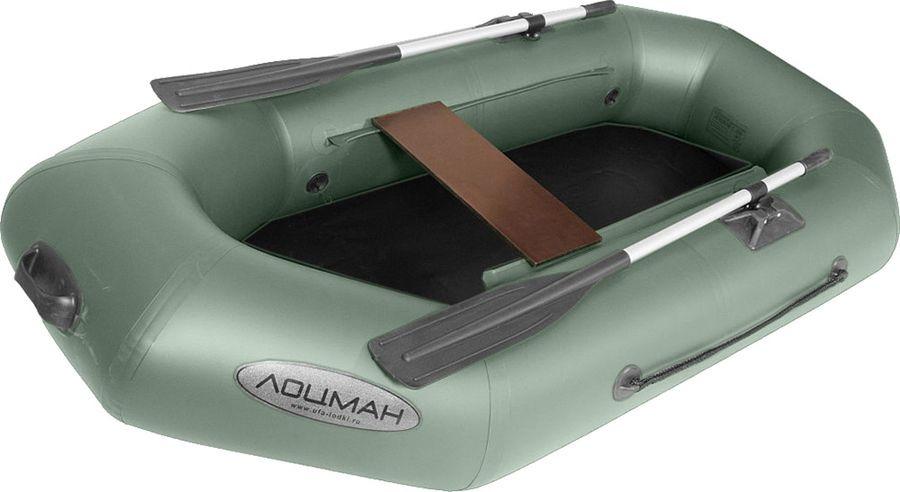 Лодка гребная Лоцман, С-220, надувная, зеленый