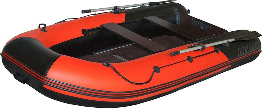 Лодка моторно-гребная Лоцман Пилот М-330, ПМ-330К, надувная, красный