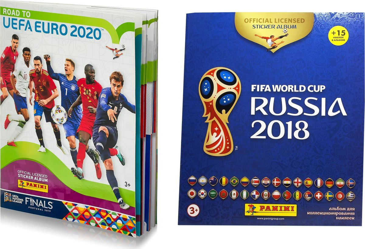 Альбом Panini Road To Euro 2020 + Альбом ЧМ по футболу FIFA 2018 альбом для наклеек чемпионат мира по футболу fifa 2018 c наклейками