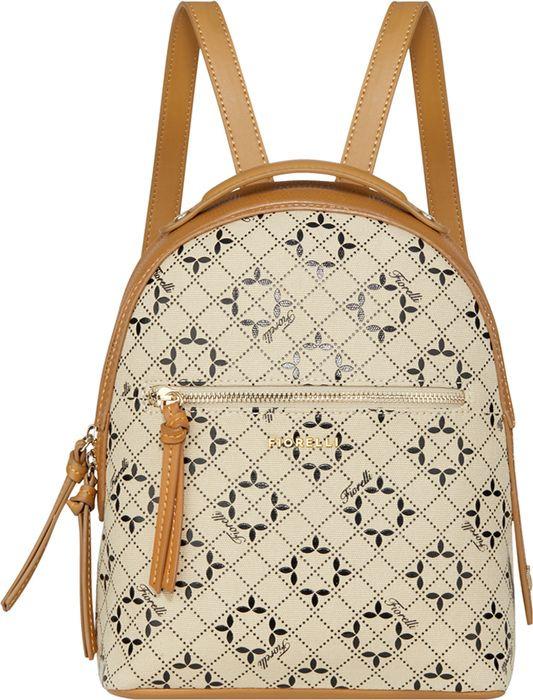 Рюкзак женский Fiorelli, 0561 FWH Jacquard Brown Mix, светло-коричневый рюкзак женский fiorelli цвет светло бежевый 0133 fwh nude mix