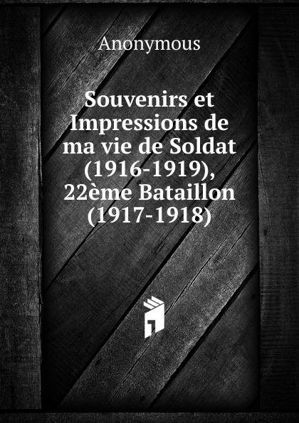 M. l'abbé Trochon Souvenirs et Impressions de ma vie de Soldat (1916-1919), 22eme Bataillon (1917-1918)